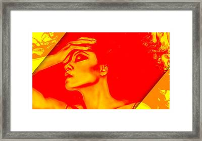 Diana Ross Collection Framed Print