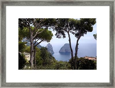 Faraglioni - Capri Framed Print