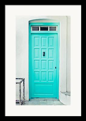 Green Door Framed Prints