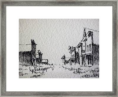 Ghost Town Framed Print by Kevin Heaney