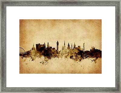 Glasgow Scotland Skyline Framed Print