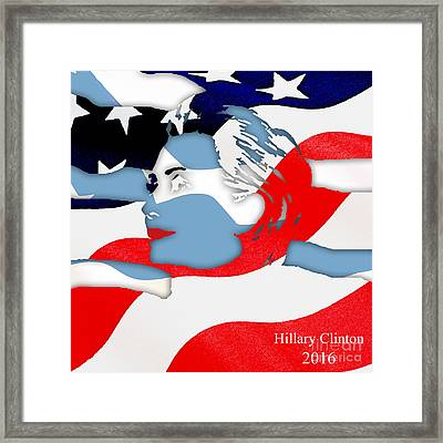 Hillary Clinton 2016 Collection Framed Print by Marvin Blaine