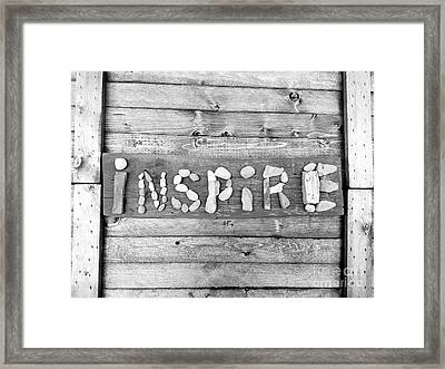 Inspiring Rock Art Framed Print