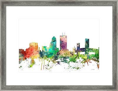 Jacksonville Florida Skyline Framed Print by Marlene Watson