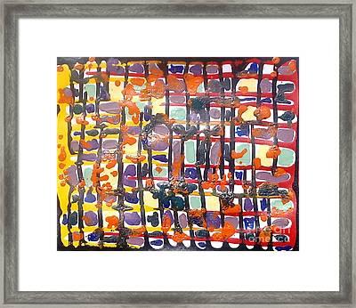 Jugglery Of Colors Framed Print by Baljit Chadha