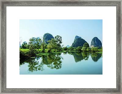 Karst Rural Scenery Framed Print