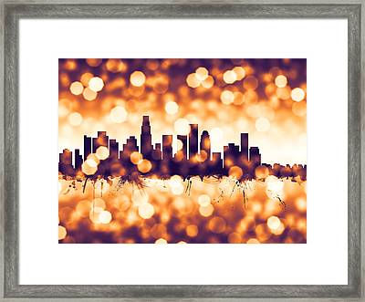 Los Angeles California Skyline Framed Print