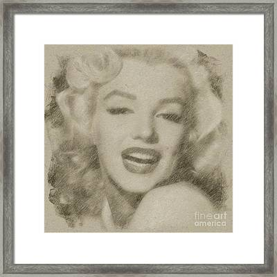 Marilyn Monroe Vintage Hollywood Actress Framed Print by Frank Falcon