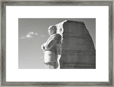 Martin Luther King Memorial In Washington Dc Framed Print by Brandon Bourdages