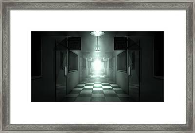 Mental Asylum Haunted Framed Print by Allan Swart