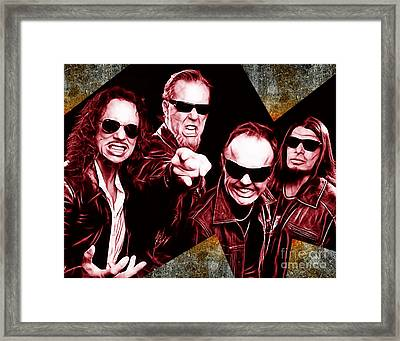 Metallica Collection Framed Print by Marvin Blaine