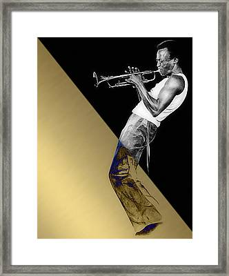 Miles Davis Collection Framed Print by Marvin Blaine