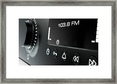 Modern Radio Face Framed Print by Allan Swart
