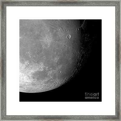 Moons Surface Framed Print by Detlev van Ravenswaay