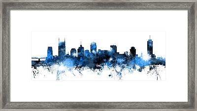 Nashville Tennessee Skyline Framed Print by Michael Tompsett