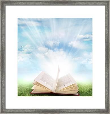 Open Book Framed Print