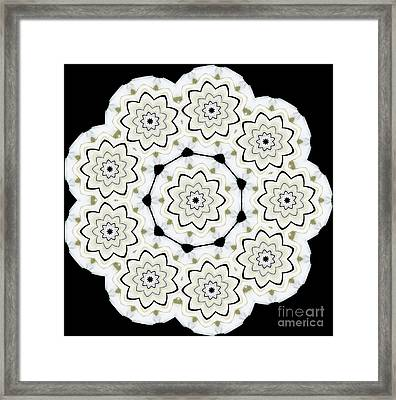 9-pointed Orchid Star Framed Print