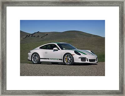 Framed Print featuring the photograph #porsche #911r #print by ItzKirb Photography