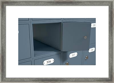 Post Office Boxes Framed Print by Allan Swart
