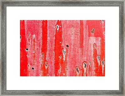 Red Metal Framed Print