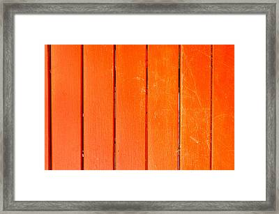 Red Wood Framed Print by Tom Gowanlock