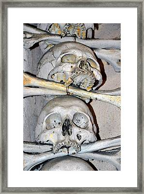 Sedlec Ossuary. Cemetery Church Of All Saints With The Ossuary. Czech Republic. Framed Print