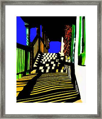 Streets Of Taos Framed Print