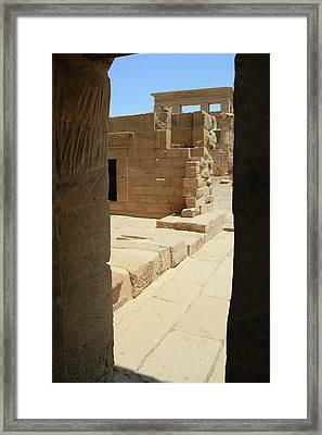 Framed Print featuring the photograph temple of Isis by Silvia Bruno