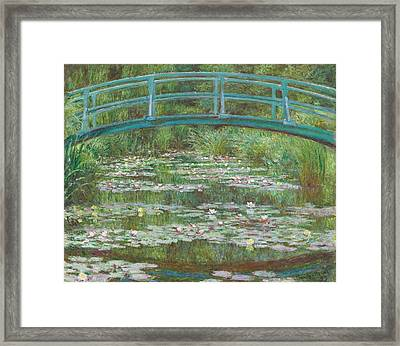 The Japanese Footbridge Framed Print by Claude Monet