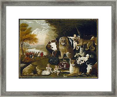 The Peaceable Kingdom Framed Print by MotionAge Designs