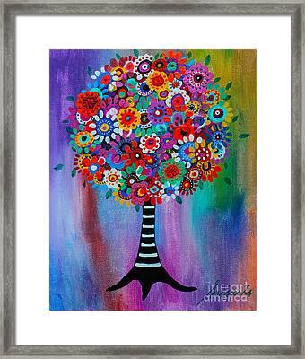 Tree Of Life Framed Print by Pristine Cartera Turkus