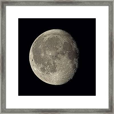 Waning Gibbous Moon Framed Print by Eckhard Slawik