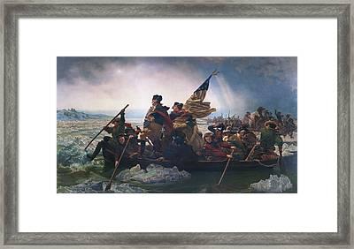 Washington Crossing The Delaware Framed Print