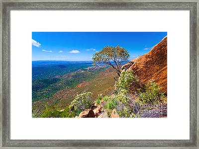 Framed Print featuring the photograph Wilpena Pound  by Bill  Robinson