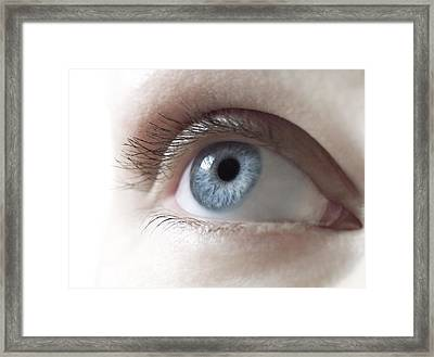 Woman's Eye Framed Print by
