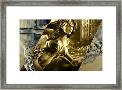 Wonder Woman Art Framed Print