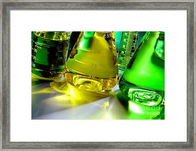 Laboratory Equipment In Science Research Lab Framed Print