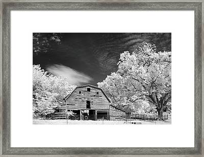 90 Year Old Barn Framed Print by James Barber
