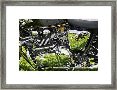 900 Thruxton Engine Framed Print