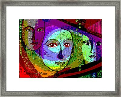 905 - A Certain Glare In The Eyes - 2017  Framed Print by Irmgard Schoendorf Welch