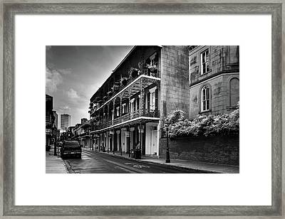 910 Royal Street In Black And White Framed Print by Greg and Chrystal Mimbs