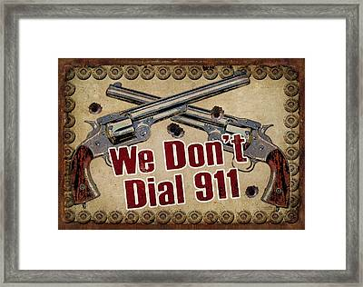 911 Framed Print by JQ Licensing