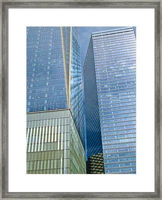 911 Memorial View Framed Print