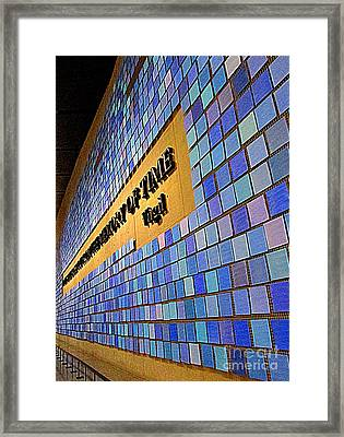 911 Memory Of Time Framed Print by Randall Weidner