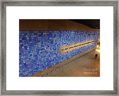 911 No Day Shall Erase You Framed Print by Randall Weidner