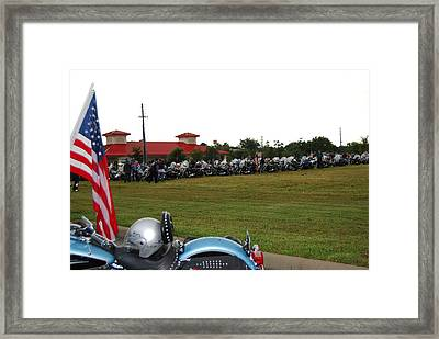911 Ride Line Up Framed Print by Angela Murray