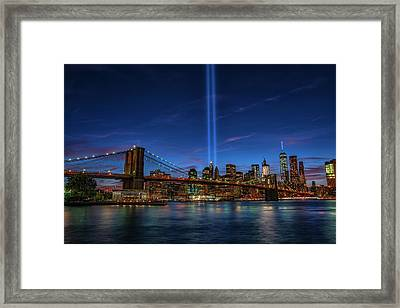 911 Tribute 15 Years Later 1 Framed Print by Dennis Clark