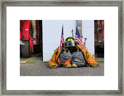 Framed Print featuring the photograph 911 Tribute IIi by Greg DeBeck
