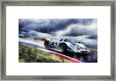 917 Action Framed Print by Tano V-Dodici ArtAutomobile
