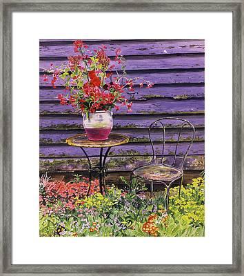 Linda's Garden Framed Print
